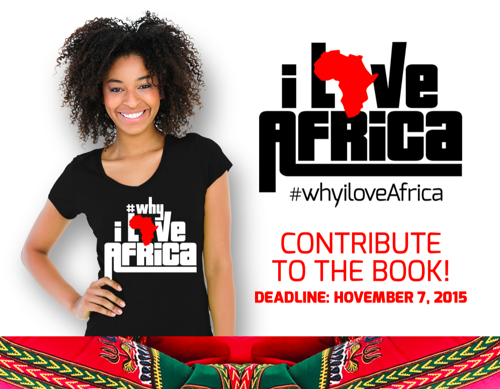 #whyiloveAfrica contribute to the book