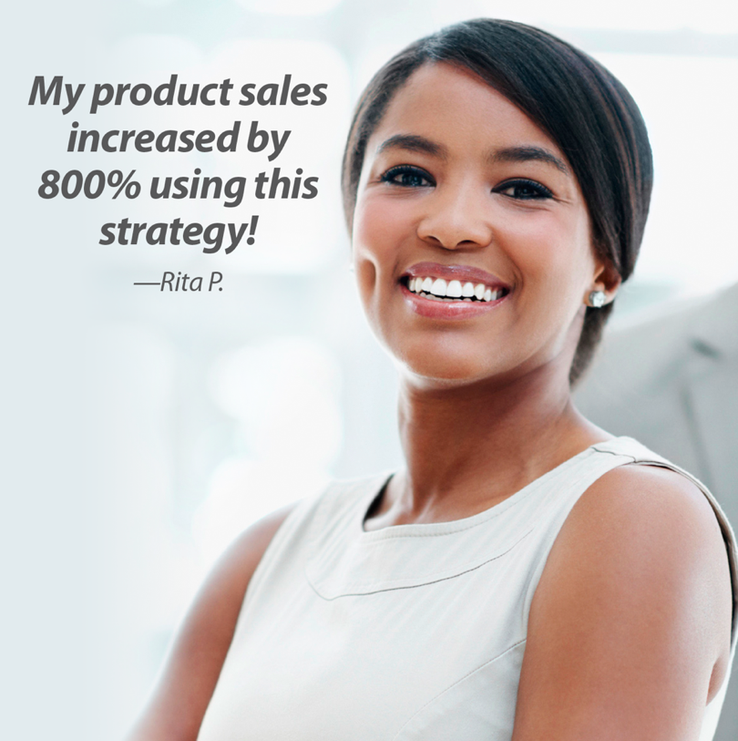 800% increase in product sales