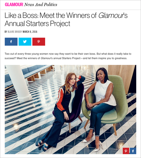 Nichelle McCall Glamour Magazine